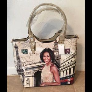 Handbags - MICHELLE OBAMA BEIGE TOTE
